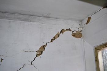Fessura diagonale parete in muratura