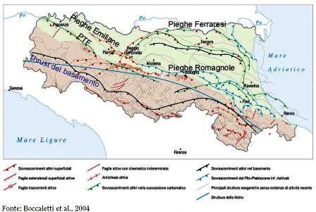 faglie sismiche Emilia Romagna