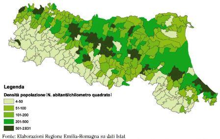 Popolazione Emilia Romagna 2011