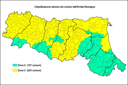 zone sismiche Emilia Romagna