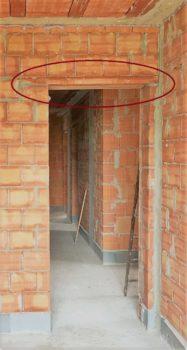 architrave porta laterocemento prefabbricata