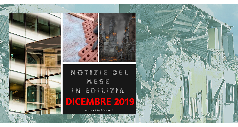 Notizie edilizia dicembre 2019