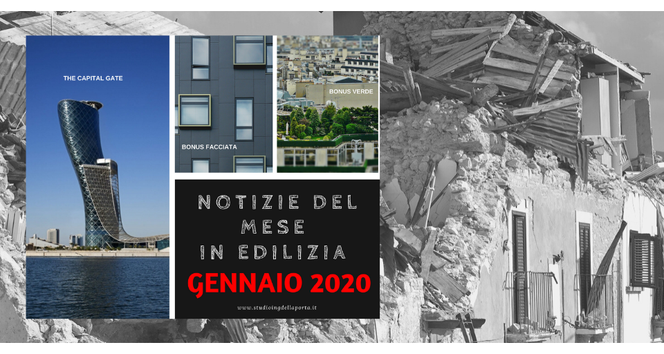 Notizie edilizia gennaio 2020