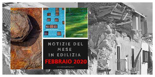 Notizie edilizia febbraio 2020