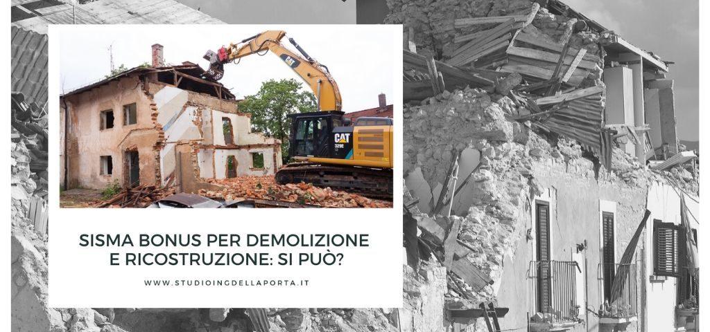 sisma bonus demolizione e ricostruzione