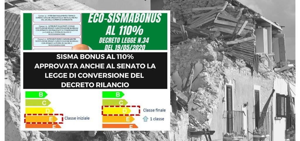 Sismabonus 110 approvato anche al senato